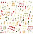 colourful music signs and note on white vector image vector image