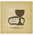 communion symbol wine and bread vintage background vector image vector image