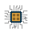 cpu chip icon image vector image vector image