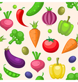 Decorative seamless pattern with vegetables vector image