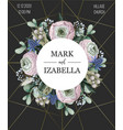 delicate wedding invitation with ranunculus vector image