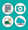 digital marketing concept video multimedia social vector image vector image