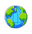 earth globe ecology icon for vector image