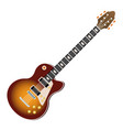 electric guitar music instrument realistic icon vector image vector image