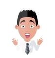 Emotion Avatar Man Surprise Success vector image vector image