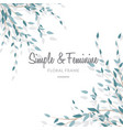 feminine and simple leave background vector image vector image