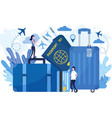 flat travel prepare vector image