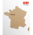 france map french maps craft paper texture empty vector image