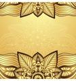 Gold-brown vintage frame vector image vector image