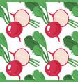 grunge seamless pattern with radish diagonal vector image vector image