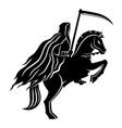 horseman death with a scythe vector image