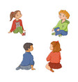 kids children boys and girls sitting on floor vector image vector image