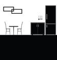 kitchen black vector image vector image