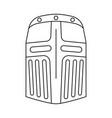 line art black and white helmet vector image vector image