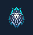 lion king esport gaming mascot logo template for vector image