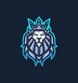 lion king esport gaming mascot logo template vector image vector image