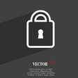 Lock icon symbol Flat modern web design with long vector image
