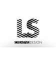 ls l s lines letter design with creative elegant vector image vector image