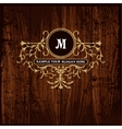 Luxury Monogram Emblem template vector image vector image