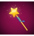 Magic Wand with Shining Star vector image
