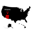 map of the us state of arizona vector image vector image