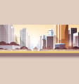 modern street city skyscrapers toxic gas air vector image
