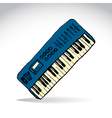 Music keyboard vector image vector image