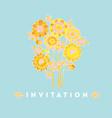 naive style hand drawn decorative marigold vector image