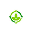 nature target logo icon design vector image vector image