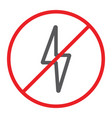no electricity line icon prohibited and ban no vector image vector image