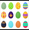 ornamental colorful easter eggs variety vector image vector image