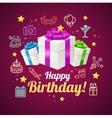 Party Invitation Birthday Card vector image vector image