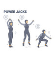 power jacks exercise muslim girl home workout vector image