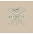 Rafting Camp Club Emblem Design vector image vector image