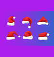 santa hat christmas cap isolated vector image