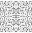 Seamless outline floral pattern vector image