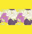 seamless pattern white and purple peony flowers vector image vector image