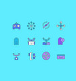 set simple line icons drone vector image vector image
