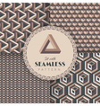 Set with seamless pattern