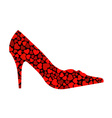 shoe with hearts vector image vector image