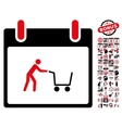 Shopping Cart Calendar Day Flat Icon With vector image vector image