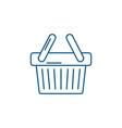 shopping cart line icon concept shopping cart vector image vector image