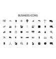 simple business icons set for ui web design vector image vector image