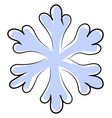 snowflake drawing on white background vector image vector image