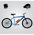 sport bicycle and equipment eps10 vector image vector image