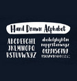 stylish hand drawn english alphabet collection of vector image
