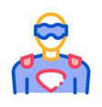 super hero man icon outline vector image