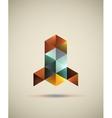 Triangle rocket logo vector image