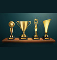 trophy frame realistic composition vector image vector image