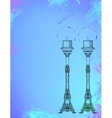 Two highly ornamental candles on watercolor vector image vector image
